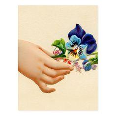 Vintage Greeting Cards, Vintage Ephemera, Vintage Postcards, Green Lettuce, Victorian Art, Pansies, Vintage Flowers, Emboss, Texture
