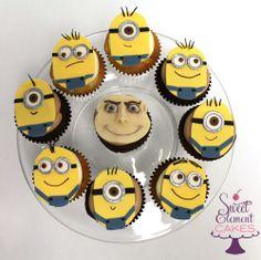 minion face cupcakes