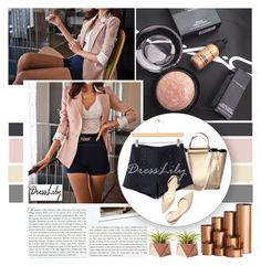 """""""Color Block Sweet Style Polyester Women's Blazer"""" by pinki1994 ❤ liked on Polyvore featuring Stop Staring!, Paul Andrew, Dot & Bo and dresslily"""
