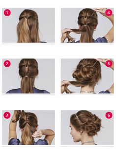 An updo for real princesses - and that's how it works: Tie the upper part of the hair int Updo Hairstyles Tutorials, Bun Hairstyles, Wedding Hairstyles, Princess Updo, Princess Hairstyles, Girls Hairdos, Blonde Hair Shades, Bun Updo, Updo Diy