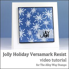 Danielle Daws: Jolly Holiday Versamark Resist Video - TAWS Do It Try It, Acetate Cards, Jolly Holiday, Distress Ink, Flower Cards, Christmas Cards, Christmas Ideas, I Card, Cardmaking