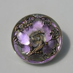 Irridescent Large Czech Glass Button by UncommonBeads on Etsy, $6.00
