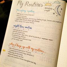 #agenda #BJ #planning #routines #page #idée #modèle