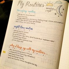 """""""#planwithmechallenge Day 7: Tried and True. not sure if this counts as a bullet journal tried and true thing but these are my tried and true routines …"""""""