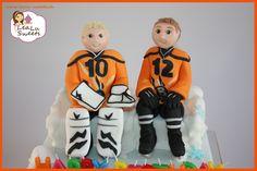 Fondant Eishockeyspieler / Fondant Icehockey Players