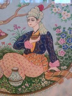 Ömer Faruk Atabek - Sevgiliye İkram - detay Central Asia, Islamic Art, Art And Architecture, Miniatures, Spirit, Birds, Drawings, Painting, Fictional Characters