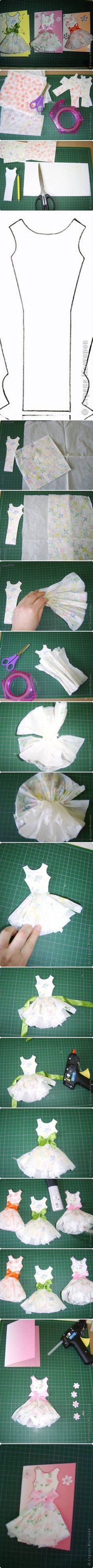 DIY Paper Dress Card Topper DIY Projects