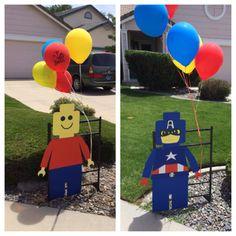 Lego Super Hero Party - Jacob is - Lego Themed Party, Lego Birthday Party, 6th Birthday Parties, 4th Birthday, Lego Parties, Birthday Ideas, Lego Party Games, Lego Ninjago, Ninjago Party