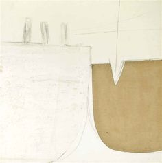 Sir Terry Frost, White Painting (Bollards)