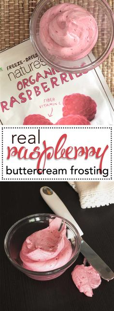 Real, All Natural Raspberry Buttercream Frosting. The best way to add REAL berries to your buttercream and get all natural flavor and color. Check out this super simple recipe. via @Kara's Couture Cakes