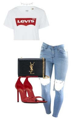 """""""Untitled #1430"""" by sadgirllmaya ❤ liked on Polyvore featuring Levi's and Yves Saint Laurent"""