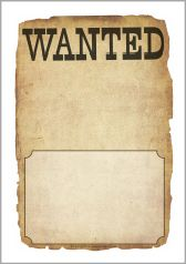 These are great for meeting common core writing standards for GAA Blank wanted poster writing frames (SB10529) - SparkleBox