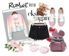 """Romwe contest"" by lajlaremic ❤ liked on Polyvore featuring Maybelline"