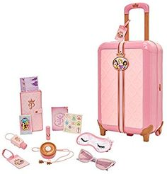 Disney Princess Travel Suitcase Play Set for Girls with Luggage Tag by Style Collection, 17 Pretend Play Accessoriespiece Including Travel Passport! Little Girl Toys, Baby Girl Toys, Toys For Girls, Kids Toys, Barbie Doll Set, Barbie Doll House, Girl Dolls, Disney Princess Toys, Disney Toys