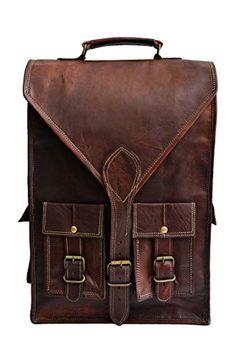 """15"""" Genuine Leather Vintage Laptop Backpack Shoulder Messenger Bag Briefcase jaald http://www.amazon.com/dp/B00KHQDVKI/ref=cm_sw_r_pi_dp_9APVvb1CZBG8X"""