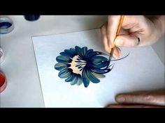урок Петриковской росписи. поэтапно цветок (Petrikovka Ukraine) - YouTube