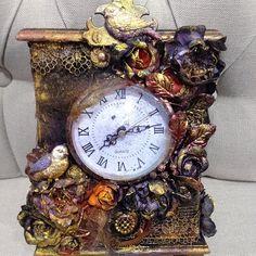 Altered clock by Finnabair.❤ Web Instagram User » Followgram