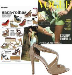 Matéria-prima natural - Revista Vogue  #guilhermina #sapatodeluxo #guilhermina_shoes #trend #Verao2013 #rafia #moda #calcadosfemininos #shoes #vogue
