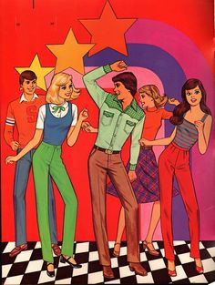 """From, """"Starr: A Paper Doll Playbook"""" by Mattel, 70s Aesthetic, Aesthetic Pictures, Photo Wall Collage, Collage Art, Hippie Art, Indie Kids, Vintage Cartoon, Retro Art, Looks Cool"""