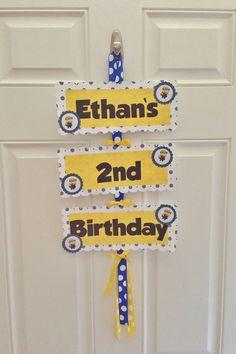 Despicable Me Birthday Door Sign via Etsy