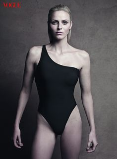 Princess Charlene of Monaco, former Olympic swimmer