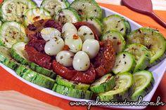 Salada de Abobrinha com Tomate Seco » Receitas Saudáveis, Saladas » Guloso e Saudável