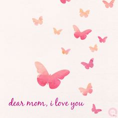Dear mom, I love you! #MothersDay