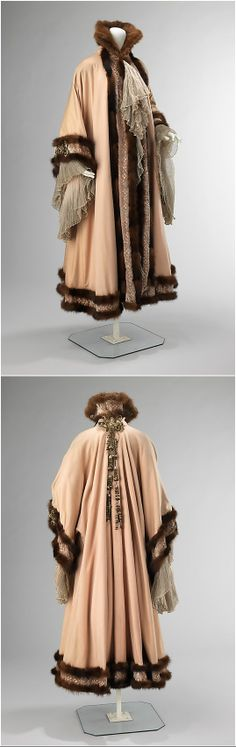 Evening coat by Jacques Doucet, fall/winter 1902, at the Met. See: http://www.metmuseum.org/collection/the-collection-online/search/159006?img=0