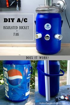 I had to pin this because it is so odd, I love it!  diy bucket a c, garages, home maintenance repairs, hvac, tools