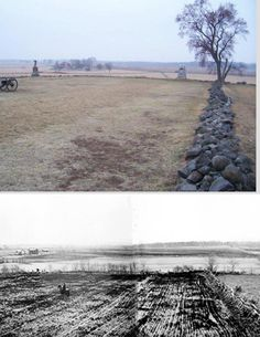 The Angle, either Gettysburg, or Spotsylvania.  THEN & NOW - American Civil War.