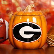 Georgia Bulldogs Ceramic Pumpkin Jar...would change it to Georgia Southern Pumpkin! :)
