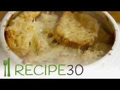 A smooth and creamier version of the classical French onion soup. Substitutions (for the keto diet): Cauliflower (for the potato), vegetable stock (for the wine and stock), and homemade bread made with almond flour. Soup Recipes, Vegetarian Recipes, Cooking Recipes, Easy Recipes, Recipe 30, Recipe Sites, Food For The Poor, High Carb Fruits, Keto Flour