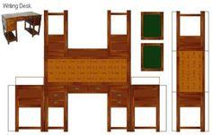 miniaturas para imprimir, recortar e montar Paper Furniture, Doll Furniture, Dollhouse Furniture, Diy Dollhouse, Dollhouse Miniatures, Paper Toys, Paper Crafts, Paper Art, Diy Crafts