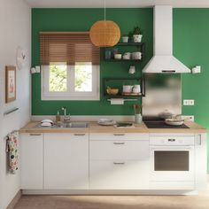 Why not get creative with more than the food in your kitchen? Try a fun, untraditional pop of colour. Think outside of the box on this one. Small Kitchen Organization, Rustic Kitchen, Wall Shelves, Office Furniture, Corner Desk, Bamboo, Kitchen Cabinets, Interior Design, Home Decor