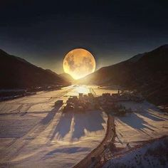 Super Moon in Switzerland