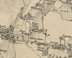 Old map of East Acton. Shepherd's Bush London, Acton London, Shepherds Bush, London Photos, James Dean, West London, Back Home, Growing Up, Script