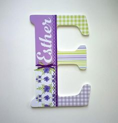 Jumbo 18 Personalized Name Custom Initial Letters for