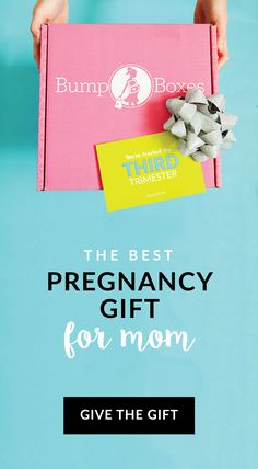 Trimester Gift Boxes by Bump Boxes!  Hand picked by our moms & conveniently delivered to your door.