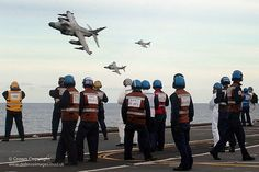Final flypast! End of era!!! Such a shame!!! Sea Harrier FA2s of 801 Squadron fly past HMS Illustrious