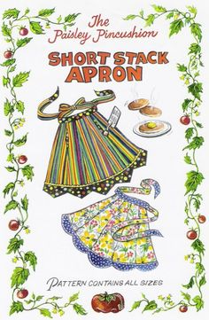 Short Stack Apron pattern by the Paisley by paisleypincushion, $9.50
