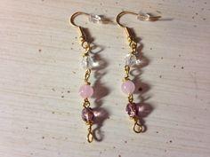 Semi Precious Rose Quartz Earrings