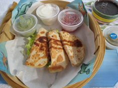 Quesadillas at the Ritz-Carlton Cancun