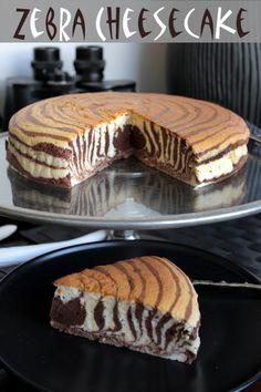 Modern take on the marbled cake, zebra!