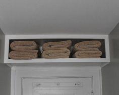 DIY~ Above the Bathroom Room Door Shelf. Smart Storage Solution!