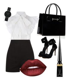 """""""GG"""" by gabigalp on Polyvore featuring moda, Christian Louboutin, Lime Crime y Newgate"""