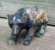 Carved Labradorite Bear