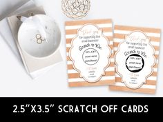 Win Free Stuff, Scratch Off Cards, Rose Gold Foil, Note Cards, Stationery, Stripes, Graphic Design, Birthday, Collection