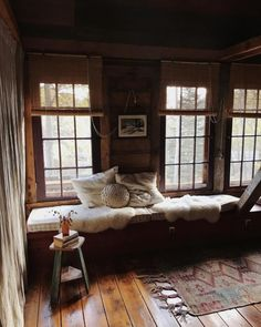 living slow and hospitality—passionat about making home simple and beautiful. Home Interior, Interior And Exterior, Cabin In The Woods, Rustic Cottage, Cabins And Cottages, Cozy Corner, Cabin Homes, Rustic Interiors, Living Spaces