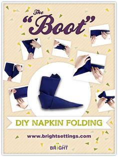 Boot Napkin Fold