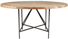jim denney round dining table - bleached wood  by ABC Carpet & Home on HomePortfolio